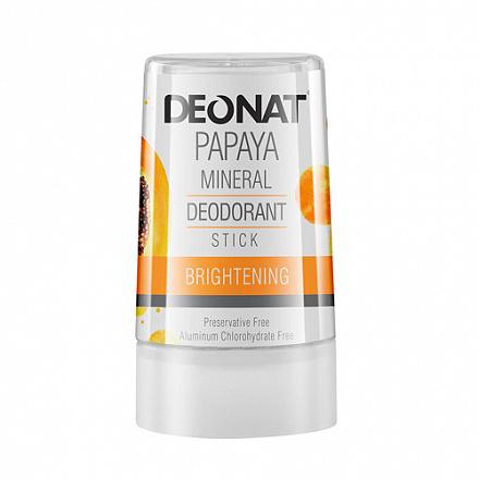 DEONAT Дезодорант-кристалл (стик) ДеоНат с экстрактом папайи, 40г