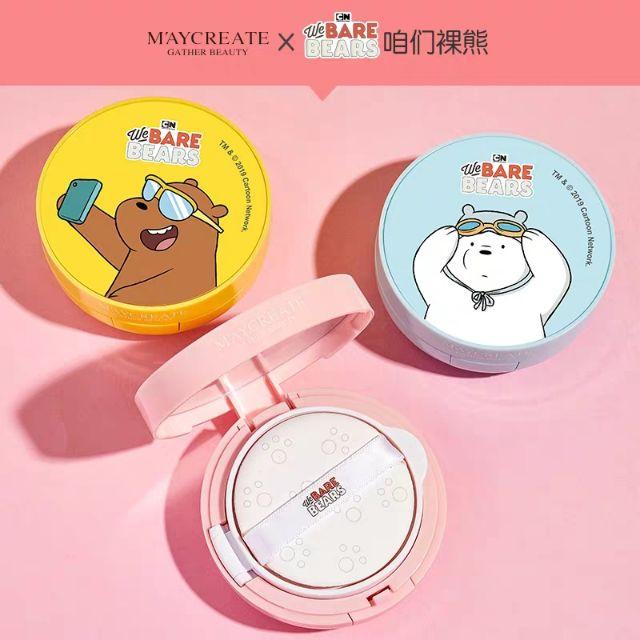 Maycreate We Bare Bears BB-кушон для лица+сменный блок 12г