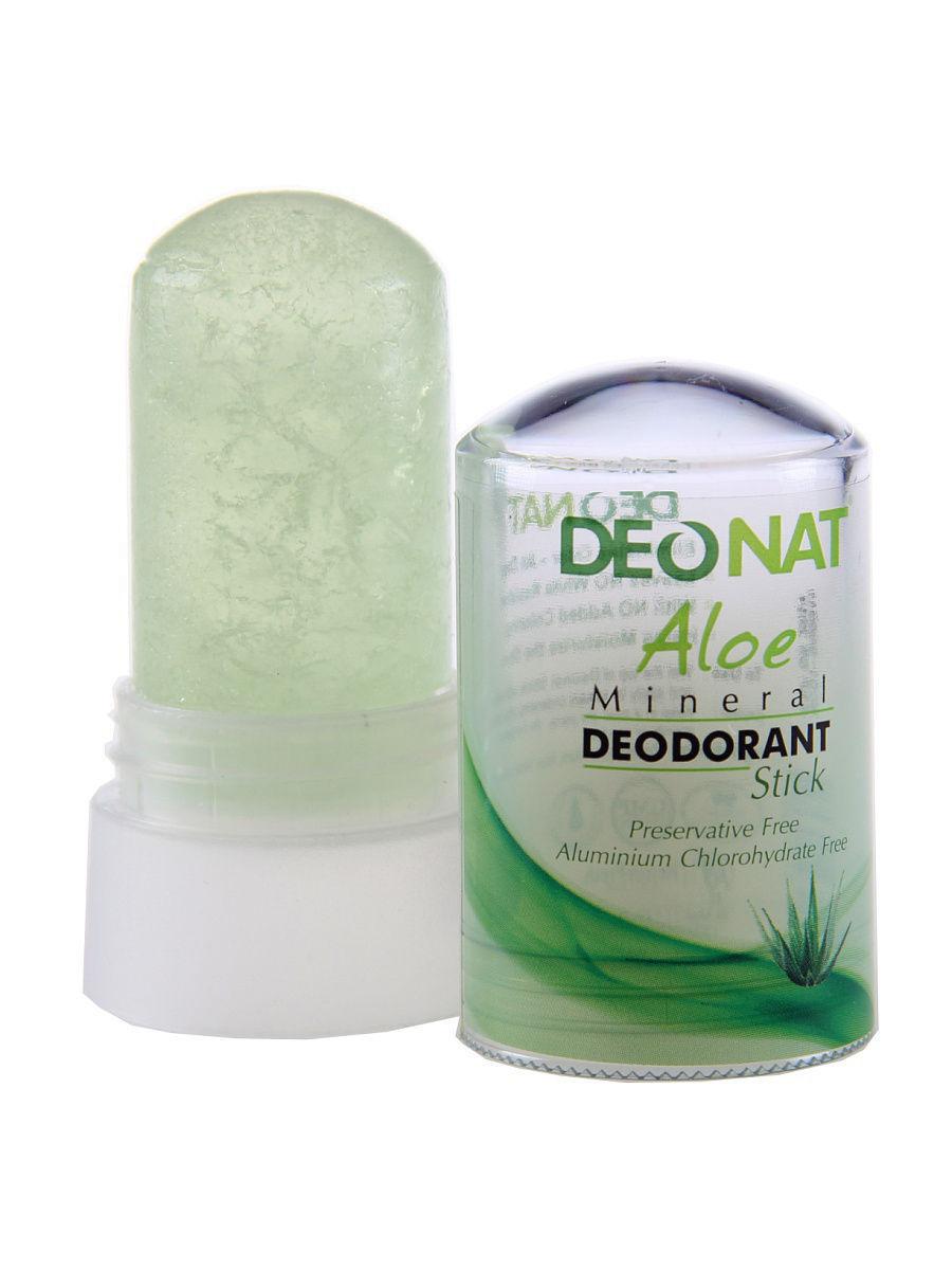 DEONAT Дезодорант-кристалл (стик) ДеоНат с натуральным соком алоэ, 40г