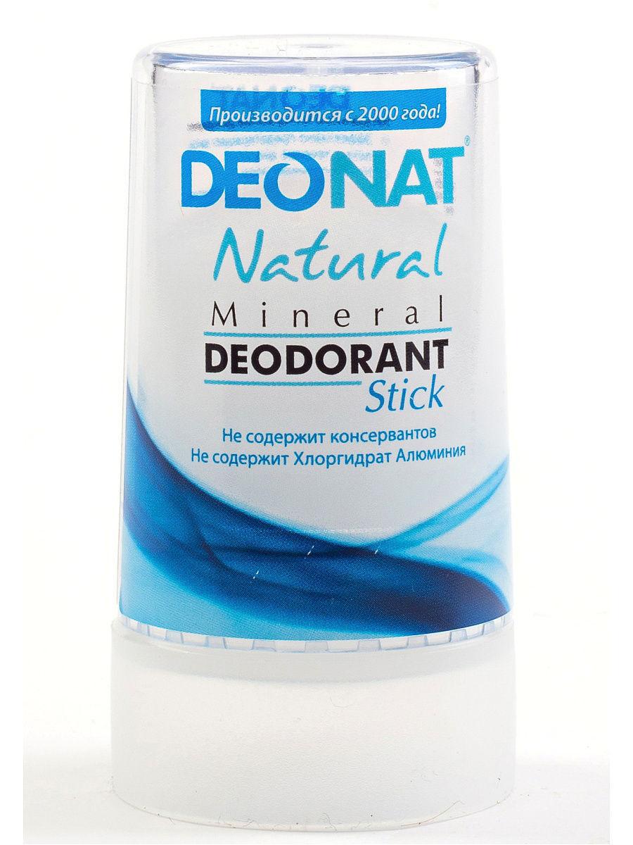 DEONAT Дезодорант-кристалл (стик) ДеоНат Relax чистый, 40г