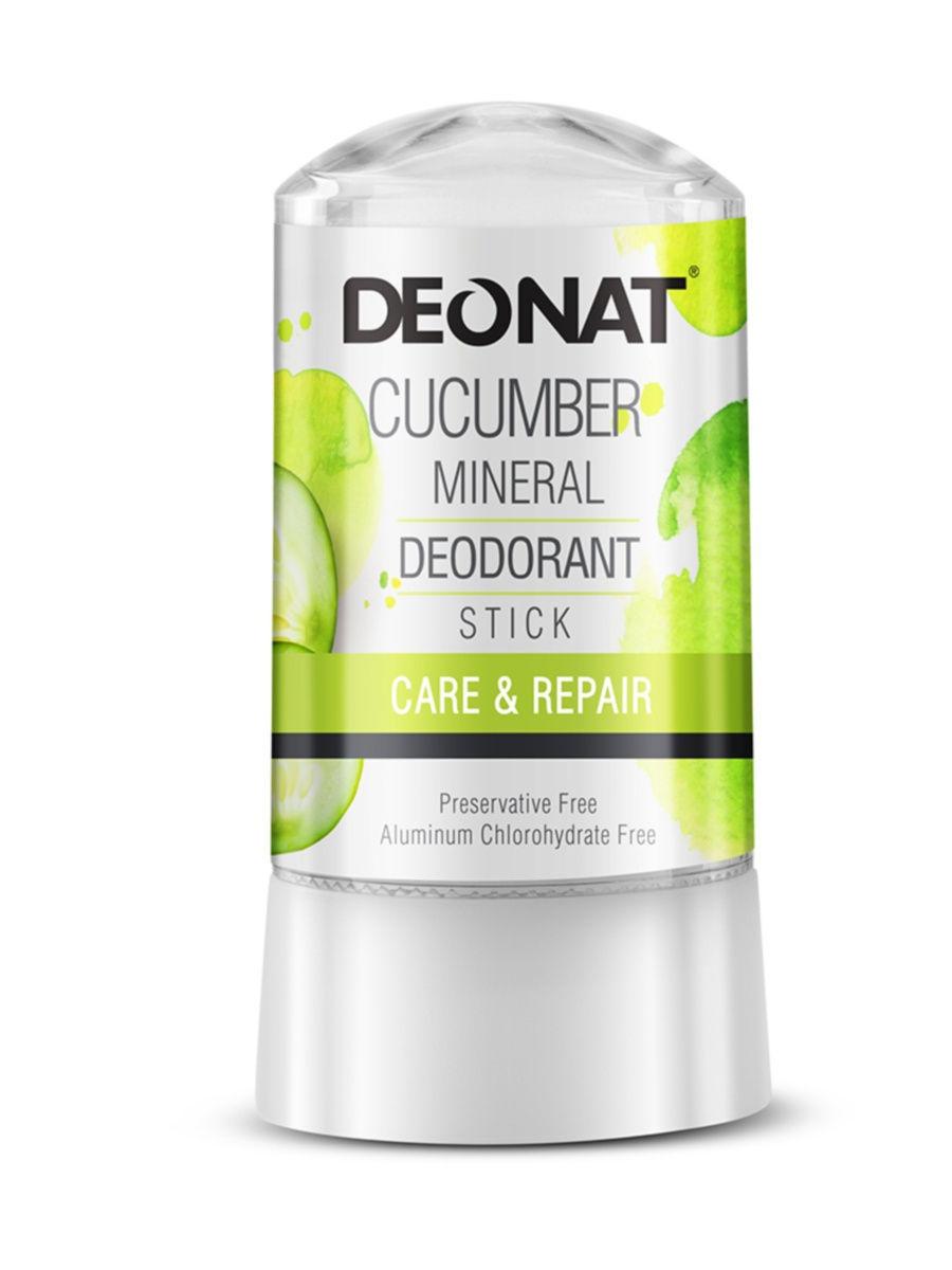DEONAT Дезодорант-кристалл (стик) ДеоНат с экстрактом огурца, 40г