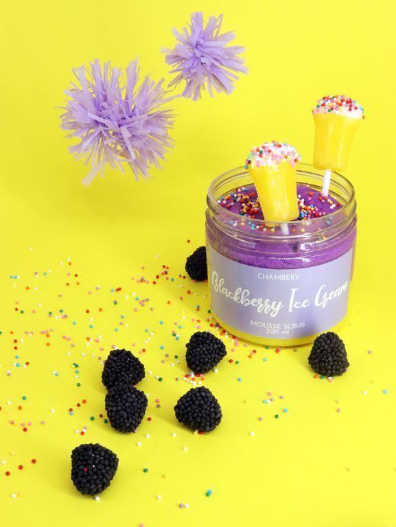 CHAMBERY Body Mousse-Scrub Blackberry Ice Cream Скраб-мусс для тела с черникой, 300мл