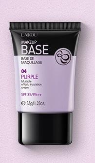 Laikou MakeUp Base Цветокорректирующая база для макияжа (лиловая) 35г