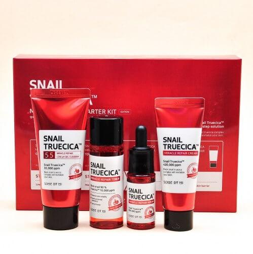 Some By Mi Snail Trucica Miracle Repair Starter kit Набор миниатюр восстанавливающих средств с улиткой