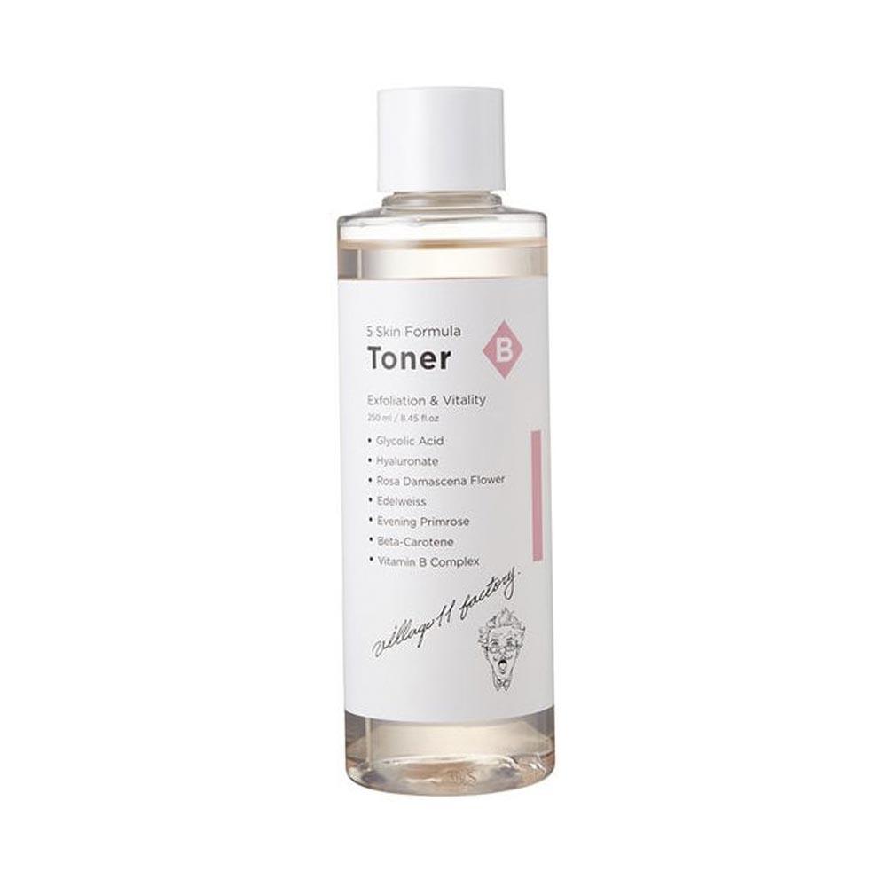 VILLAGE 11 FACTORY Formula Toner B Skin Отшелушивающий пилинг-тонер, 250мл