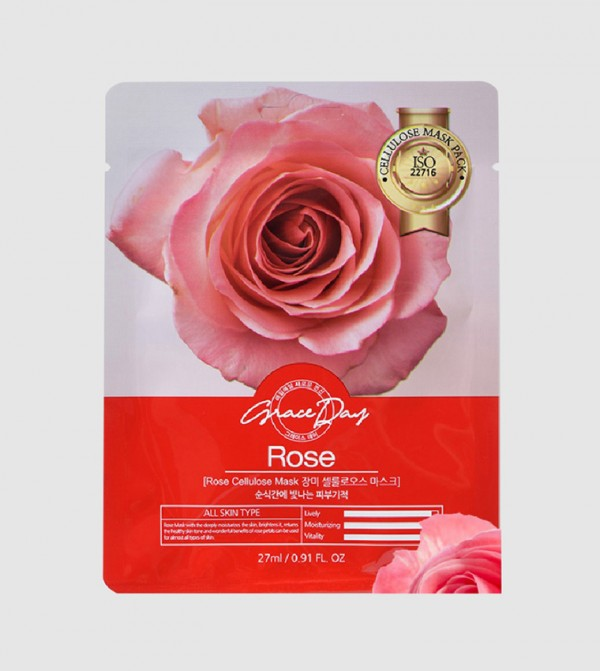 Grace Day traditional oriental Rose Тканевая маска с розой 22г